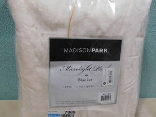 Madison park microlight plush full queen blanket