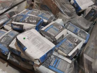 pallet of mixed grout