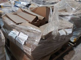 mixed pallet of grout multiple boxes