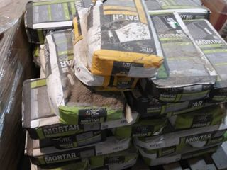 pallet of mortar and patch