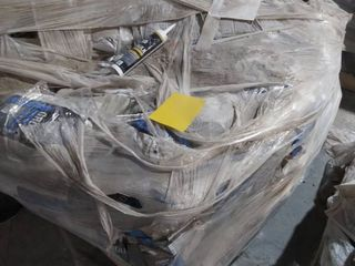 pallet of grout and caulk
