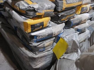 mixed pallet of mortar  underlayment  patch and grout