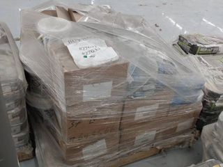 mixed pallet of grout