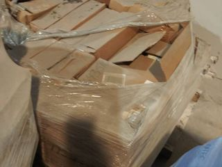 boxes of mixed grout on pallet