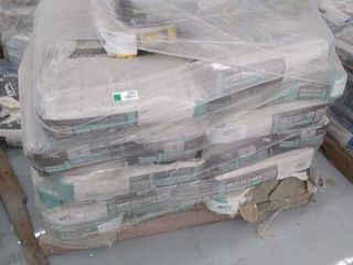 pallet of grout and mortar
