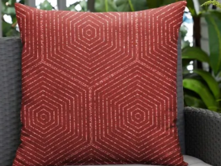 Ruby Graphic Indoor Outdoor Knife Edge lumbar Pillow by Havenside Home