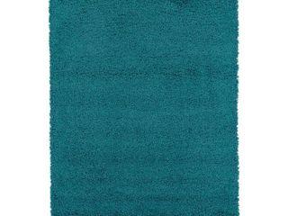 Ottomanson Cozy Shaggy Soft Solid Shag Area Rug  Retail 155 49