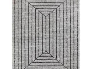 Elias Modern Geometric Area Rug  Retail 144 49