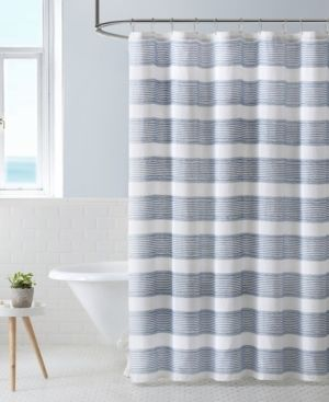 Tommy Bahama Parrot Cay Stripe Grey Shower Curtain