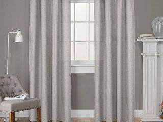 Set of 2  96 x52  loha linen Grommet Top light Filtering Curtain Panel Beige   Exclusive Home