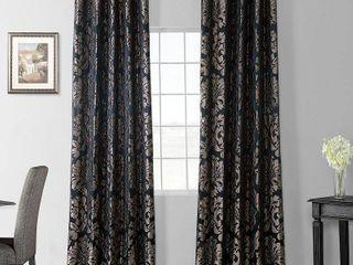 Half Price Drapes Astoria Faux Silk Jacquard Curtain Panel