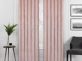 Set of 2  63 x50  Harper Velvet Absolute Zero Blackout Window Panel Pink   Eclipse