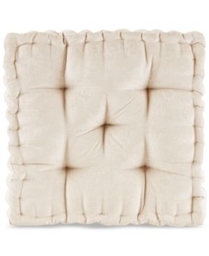 Ivory Square Floor Pillow Cushion  20 x20