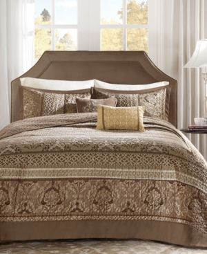 Mirage 5 Piece Polyester Jacquard Bedspread Bedding Set