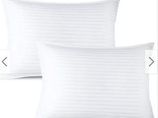 Nestl Bedding 100 percent Cotton Cover Premium Plush Gel Pillow