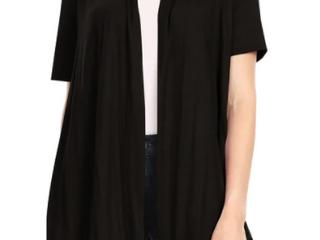 Women s Casual Solid Short Sleeve Basic Cardigan Jacket