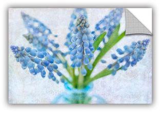 ArtAppealz Sagebrush Cora Niele s  Blue Grape Hyacinth  Removable Wall Art Mural