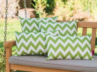 Marisol Outdoor Chevron Pillow  Set of 4  by Christopher Knight Home