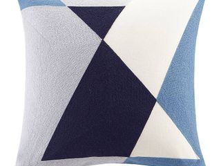 Ink Ivy Aero 20  Square Embroidered Abstract Decorative Pillow