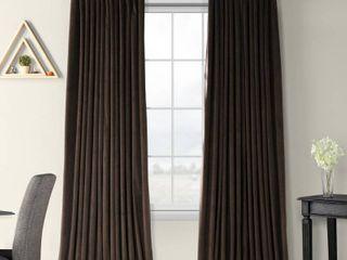 Set of 2 Exclusive Fabrics Java Velvet Blackout Extra Wide Curtain Panel Retail 123 49