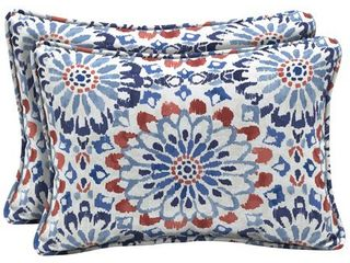 Arden Selections Clark Outdoor Oversized lumbar Pillow 2 Pack   15 in l x 22 in W x 6 in H