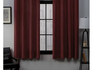 Set of 2  63 x54  loha linen Grommet Top light Filtering Curtain Panel Radiant Red   Exclusive Home