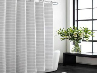 Vera Wang Textured Stripe Shower Curtain Bedding
