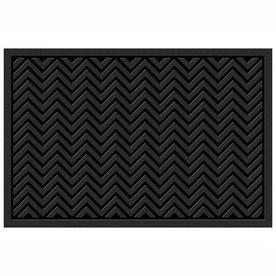 Mohawk Home Chevrons Matrix Black Rectangular Door Mat  Common  36 in x 60 in  Actual  36 in x 60 in