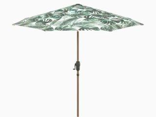 allen   roth 9 ft Round with light Brown Aluminum Frame Auto Tilt Market Patio Umbrella
