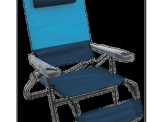 Rio Gear Ottoman lounge 4 Position Camp Chair   Blue Sky Navy