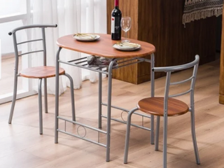 Modern Dining Set Simple Bar Table and Stools Retail 94 49