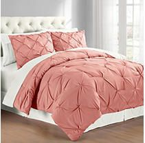 King Size Cathay Home  Inc Swift Home Pintuck Comforter Set