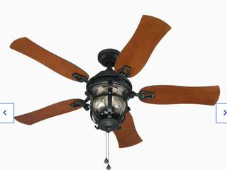 Harbor Breeze lake Placido Black Iron Finish Ceiling Fan