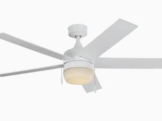 Harbor Breeze Newbern 52  White led Indoor Downrod Ceiling Fan W  light Kit