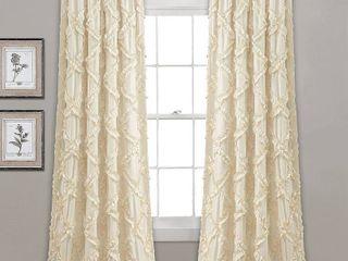 Ruffle Diamond 54  x 95  Curtain Set