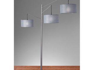 Adesso Wellington Satin Steel Arc lamp