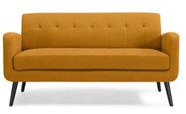 Carson Carrington Tjaereborg Mid century Modern linen Sofa Retail 527 49