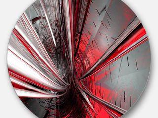 DesignArt Fractal 3D Deep Into Middle Metal Wall Art