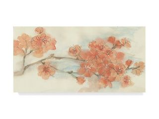 Chris Paschke Peach Blossom I Flipped Canvas Art