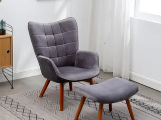 Carson Carrington Aasen Contemporary Silky Velvet Tufted Accent Chair