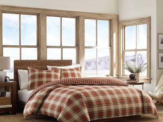 Twin Size Eddie Bauer Edgewood Plaid Comforter Set