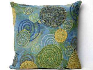liora Manne Multi Spiral Indoor Outdoor 20 inch Throw Pillow