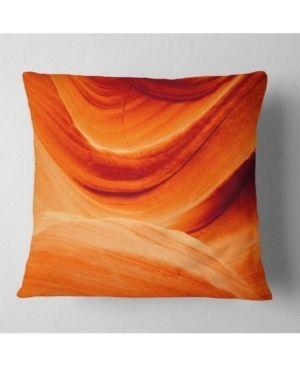 Designart  Antelope Canyon Orange Wall  landscape Photography Throw Pillow