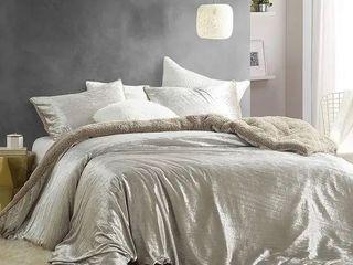 Velvet Crush   Coma Inducer Oversized Comforter   Crinkle Iced Almond Retail 126 99
