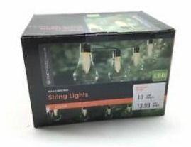 Portfolio 13 9 ft light Yellow Plastic Shade led Solar Bulb String lights   G1
