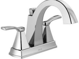 Delta Flynn Chrome 2 handle 4 in Centerset Watersense Bathroom Sink Faucet