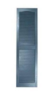 Alpha 2 pack 14 5 in W x 50 5 in H indigo blue vinyl exterior shutters