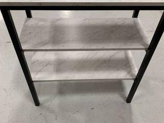 3 shelf faux marble