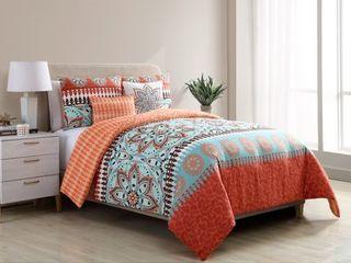 VCNY Home Ezra Reversible 5 piece Comforter Set Retail 79 98