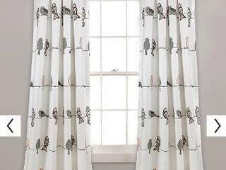 Pair of curtains  lush Decor Rowley birds room darkening curtains